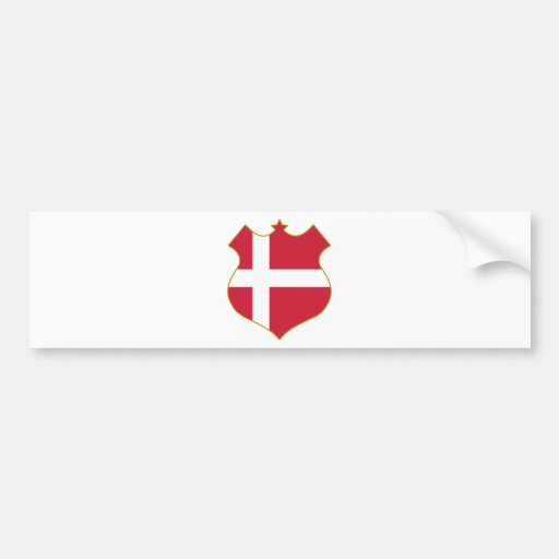 Denmark-shield.png Bumper Stickers