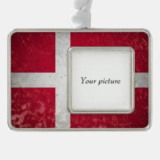 Denmark Silver Plated Framed Ornament