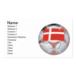 Denmark Soccer Ball Double-Sided Standard Business Cards (Pack Of 100)
