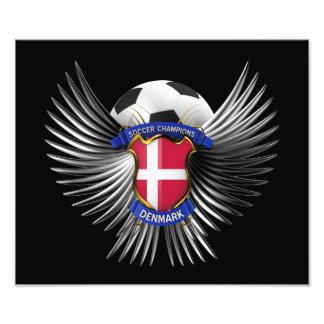 Denmark Soccer Champions Photo Art