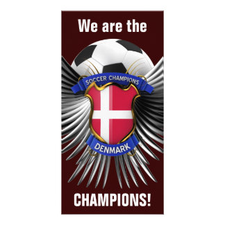 Denmark Soccer Champions Picture Card
