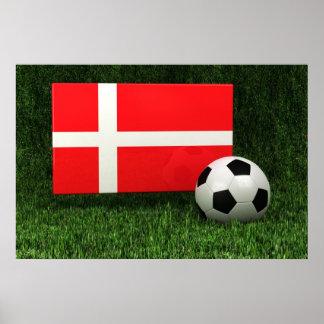 Denmark Soccer Poster