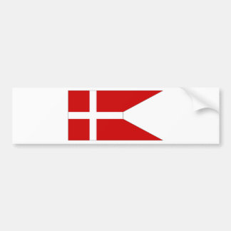 Denmark State Flag Bumper Stickers