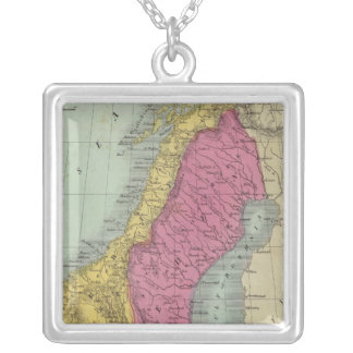 Denmark Sweden and Norway Silver Plated Necklace