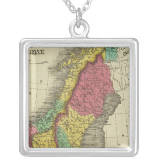 Denmark, Sweden, And Norway Silver Plated Necklace