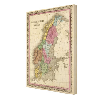 Denmark, Sweden, Norway Canvas Print
