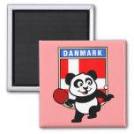 Denmark Table Tennis Panda Refrigerator Magnet