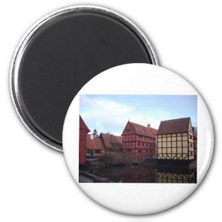 Denmark Travels 6 Cm Round Magnet