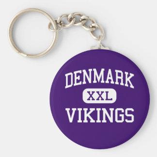 Denmark - Vikings - High - Denmark Wisconsin Basic Round Button Key Ring