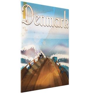 Denmark Vintage Travel Poster Canvas Prints