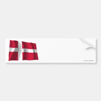 Denmark Waving Flag Bumper Sticker