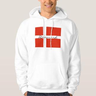 Denmark with Dannebrog Hoodie