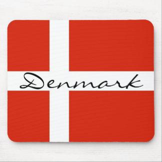Denmark with Dannebrog Mouse Mat