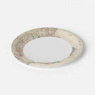 Denmark with inset map of Iceland 7 Inch Paper Plate