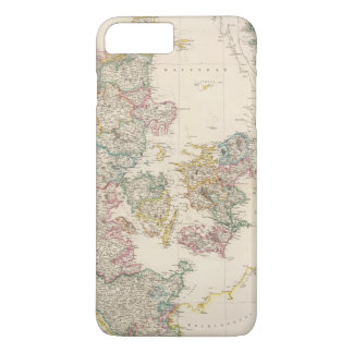 Denmark with inset map of Iceland iPhone 8 Plus/7 Plus Case