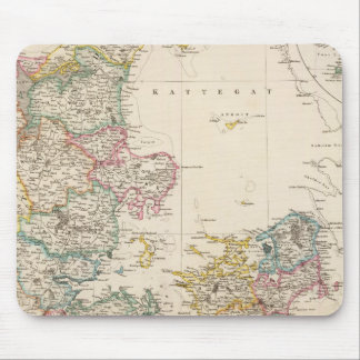 Denmark with inset map of Iceland Mouse Mat