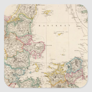 Denmark with inset map of Iceland Square Sticker