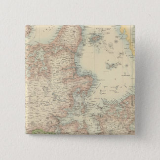Denmark with Schleswig and Holstein 15 Cm Square Badge