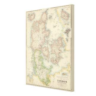 Denmark with Schleswig and Holstein Canvas Print