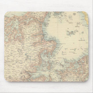 Denmark with Schleswig and Holstein Mouse Mat