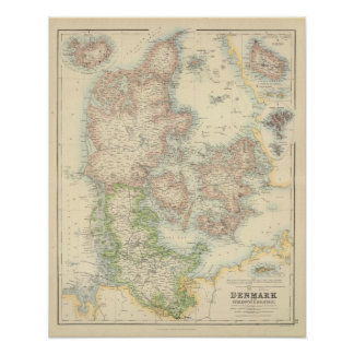 Denmark with Schleswig and Holstein Poster
