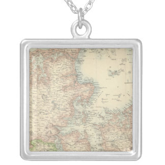Denmark with Schleswig and Holstein Silver Plated Necklace