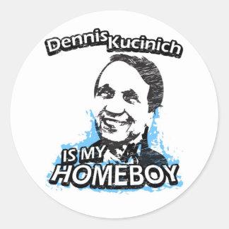Dennis Kucinich is my homeboy Classic Round Sticker