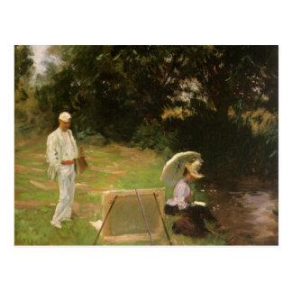 Dennis Miller Bunker Painting at Calcot by Sargent Postcard