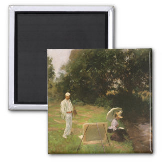 Dennis Miller Bunker Painting at Calcot by Sargent Square Magnet