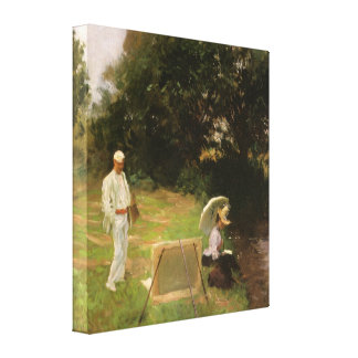 Dennis Miller Bunker Painting at Calcot by Sargent Stretched Canvas Print
