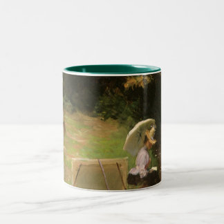 Dennis Miller Bunker Painting at Calcot by Sargent Two-Tone Mug