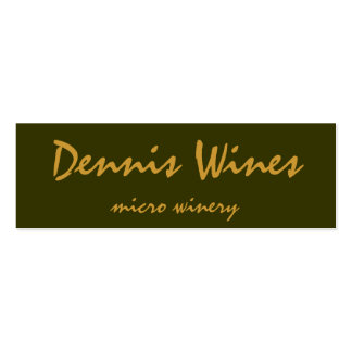 Dennis Wines Business Card
