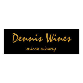 Dennis Wines Business Card Template