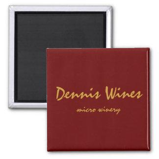 Dennis Wines Square Magnet