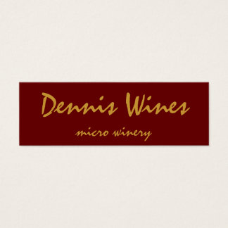 Dennis Wines Mini Business Card