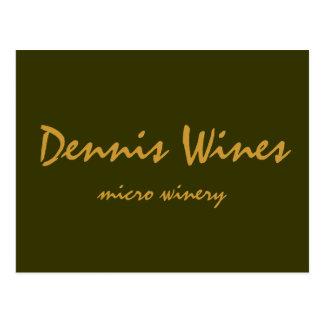 Dennis Wines Postcard