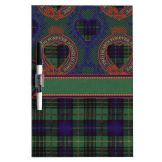 Dennison clan Plaid Scottish kilt tartan Dry Erase Board