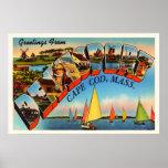 Dennisport Cape Cod Massachusetts MA Old Travel Poster