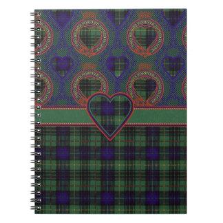 Denniston clan Plaid Scottish kilt tartan Notebook
