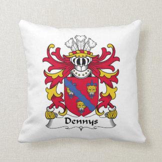 Dennys Family Crest Throw Pillows