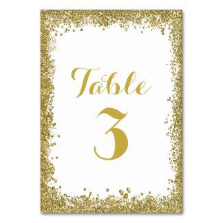Dense Faux Gold Glitter Foil Confetti Polka Dots Table Card