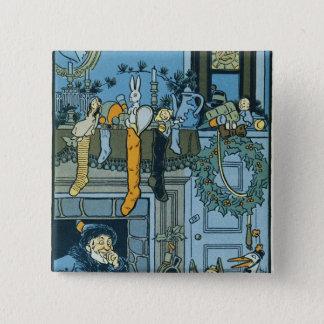 Denslow's Night Before Christmas Illustration 15 Cm Square Badge