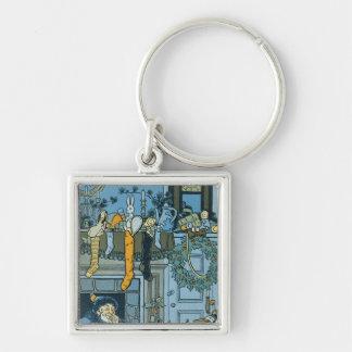 Denslow's Night Before Christmas Illustration Key Ring