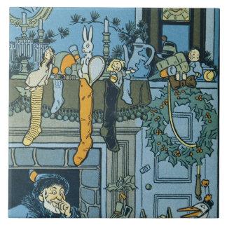 Denslow's Night Before Christmas Illustration Tile