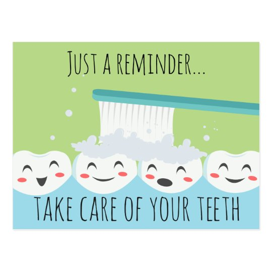 Dental Apointment Reminder Postcard