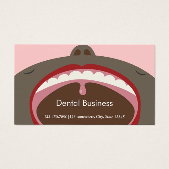 Dental Appointment African American Cartoon Kids Business Card