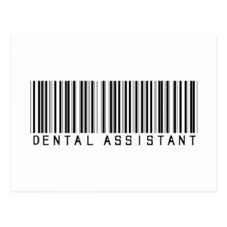 Dental Assistant Bar Code Postcard