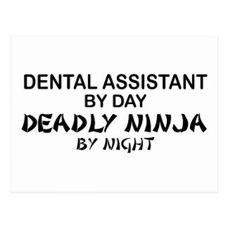 Dental Assistant Deadly Ninja Postcard
