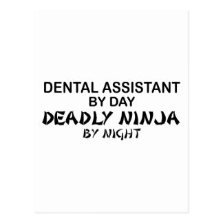 Dental Assistant Deadly Ninja Postcard