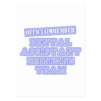 Dental Assistant Drinking Team Post Card